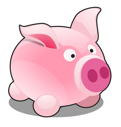 funny pig toy isolated on white background vector image