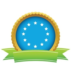 Gold European Union logo vector image