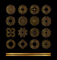 Gold ornaments se vector
