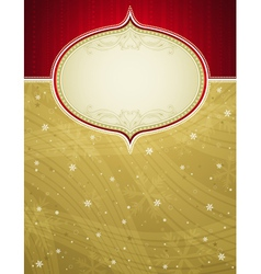 golden christmas background with snowflakes vector image