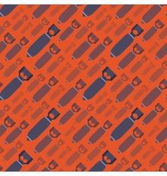 H-Bobms seamless pattern vector image