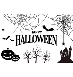 Happy halloween colorless vector