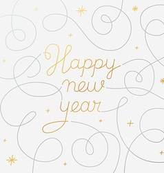 Happy new year - greeting card with hand-lettering vector image