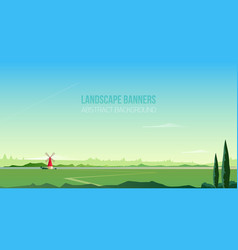 horizontal background or banner template vector image