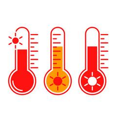 hot temperature vector image