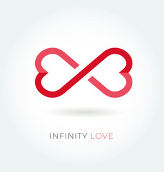 Infinity love logo valentine and relationship icon vector