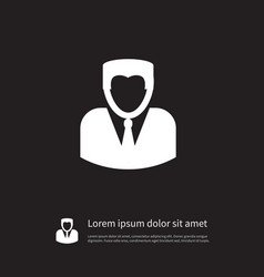 Isolated person icon man element can be vector