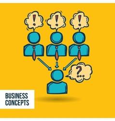 Job interview business sketch vector image
