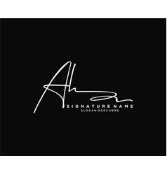 Letter ah signature logo template vector