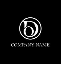 Letter do logo design inspiration clean vector