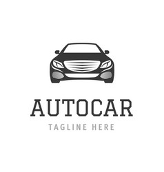 logo autocar concept design of vehicle company vector image
