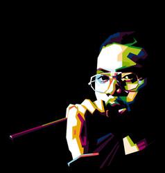 Man singer and rapper nasir jones or nas vector