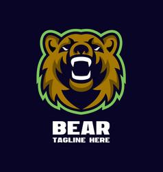 modern bear mascot logo vector image