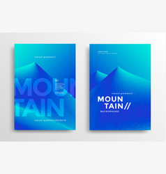 Mountain landscape modern cover vector