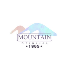 Mountain original 1965 logo tourism hiking and vector