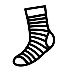 Neatness sock icon simple style vector
