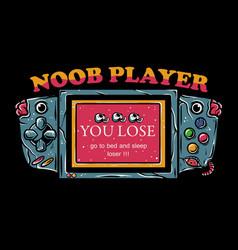 noob player vector image