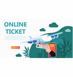 online travel store online ticket booking vector image