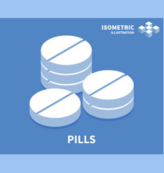 pills icon isometric template for web design vector image
