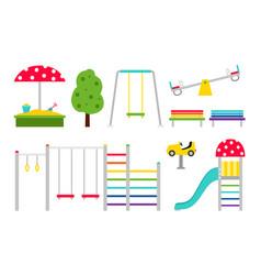 playground equipment kids vector image