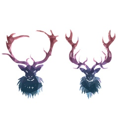 Polygonal Deer2 vector image