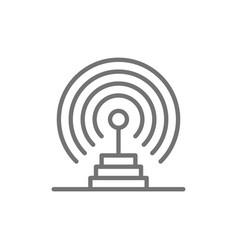 radio antenna radar detection system receiver vector image