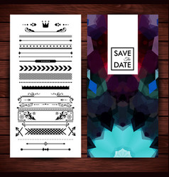 save the date invitation with text and objects vector image