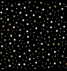 seamless pattern with little rounded back stars vector image