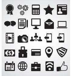 Set internet icons vector