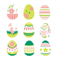 Simple Style Easter Eggs for Happy Easter vector