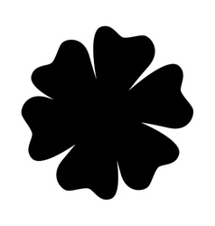Single flower icon image vector