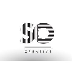 So s o black and white lines letter logo design vector