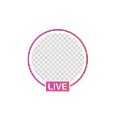 Social media icon avatar frame live stories user vector