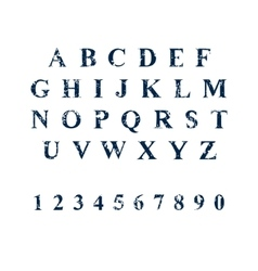 Sponge print grunge font typography vector image