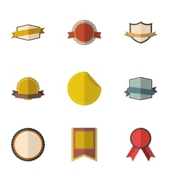 Sticker icons set flat style vector image