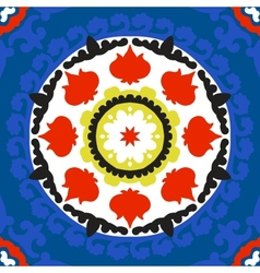 Suzani pattern with bold ornament vector image