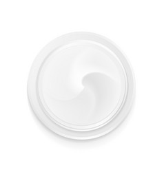 Top view hygienic cream vector