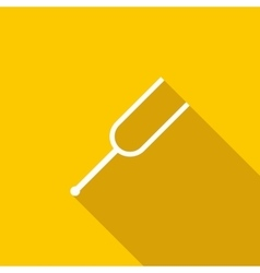 Tuning fork icon flat style vector