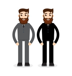 twins together vector image