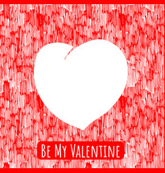 valentine heart template vector image