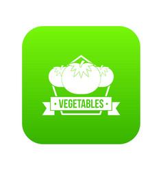 vegetables icon green vector image