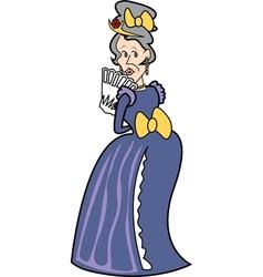 Victorian woman vector image