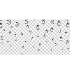 water drops realistic isolated on transparent vector image