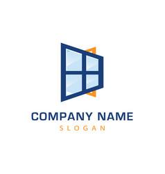 window logo design vector image