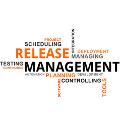 word cloud - release management vector image