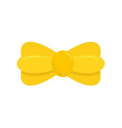 yellow bow tie icon flat style vector image