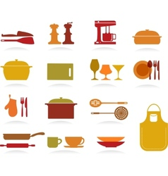 Cute Kitchen Collection vector image