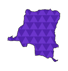 map of the democractic republic of the congo vector image