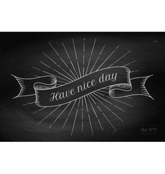 Set of old vintage ribbon banners with word vector image vector image