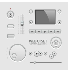 Web UI Elements Design Light Gray vector image vector image